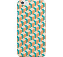 Isometric Geometrical Pastel Blocks Pattern iPhone Case/Skin