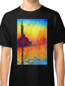 Abstract Impressions lake sea sunset sunrise Classic T-Shirt