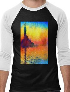 Abstract Impressions lake sea sunset sunrise Men's Baseball ¾ T-Shirt