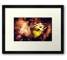 abstract butterfly insect flowers Framed Print