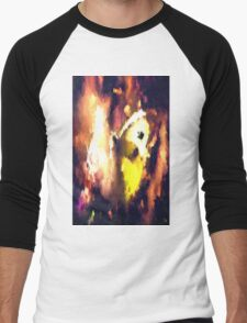 abstract butterfly insect flowers Men's Baseball ¾ T-Shirt