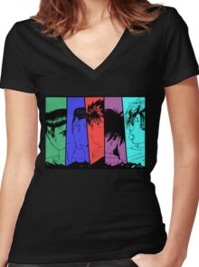 Yu Yu Hakusho - Team Urameshi Women's Fitted V-Neck T-Shirt