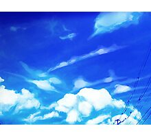 Bright Blue Sky Photographic Print