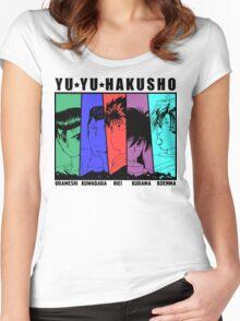 Yu Yu Hakusho - Urameshi, Kuwabara, Hiei, Kurama, Koenma Women's Fitted Scoop T-Shirt