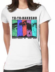 Yu Yu Hakusho - Urameshi, Kuwabara, Hiei, Kurama, Koenma Womens Fitted T-Shirt