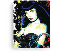 Bombshell Betty Page Canvas Print
