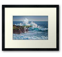 Exploding Surf Framed Print