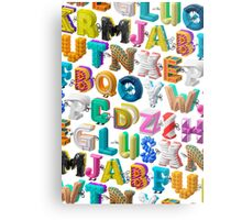 The Alphabet is your Playground Metal Print