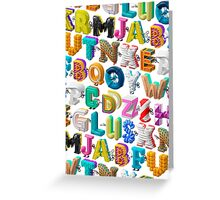 The Alphabet is your Playground Greeting Card