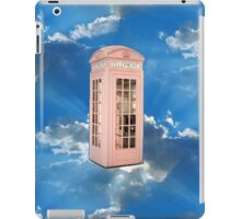 pink phone booth iPad Case/Skin