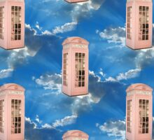 pink phone booth Sticker