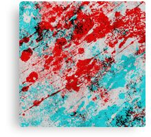 Red Fury - Abstract In Blue And Red Canvas Print