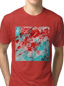 Red Fury - Abstract In Blue And Red Tri-blend T-Shirt
