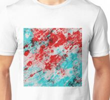 Red Fury - Abstract In Blue And Red Unisex T-Shirt