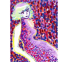 Pointillist Lady Photographic Print