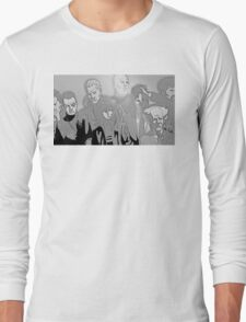 Ghost in the Shell Crew - Engraved Style Long Sleeve T-Shirt