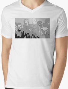 Ghost in the Shell Crew - Engraved Style Mens V-Neck T-Shirt