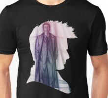 The Tenth Doctor Silhouette with Colorful Sketch Unisex T-Shirt