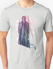 The Tenth Doctor Silhouette with Colorful Sketch T-Shirt