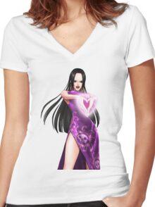 Boa Hancock  Women's Fitted V-Neck T-Shirt