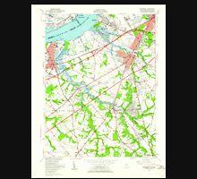 USGS TOPO Map New Jersey NJ Woodbury 255003 1949 24000 Unisex T-Shirt