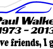 Paul Walker R.I.P Blue Sticker