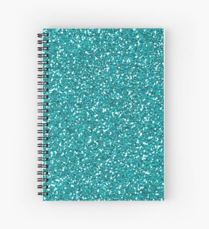 Turquoise Glitter Sparkles Texture Photography Spiral Notebook