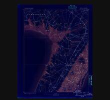 USGS TOPO Map New Jersey NJ Dennisville 255156 1888 62500 Inverted Unisex T-Shirt
