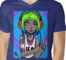 NeonGirl Mens V-Neck T-Shirt