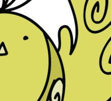 Fancy Yellow Bird Sticker
