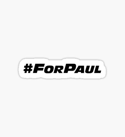 #ForPaul Sticker