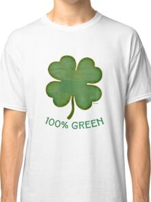 Irish Shamrock - 100% Green Classic T-Shirt