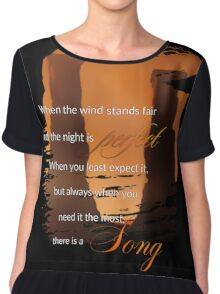 Singing Towers, There is a Song, Doctor Who Chiffon Top