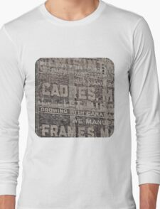 Ghost Sign and Sign Long Sleeve T-Shirt