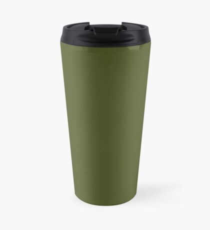 Olive Green Accent Solid Color Decor Travel Mug