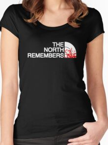 THE NORTH REMEMBERS North Face GOT Women's Fitted Scoop T-Shirt