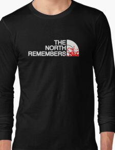 THE NORTH REMEMBERS North Face GOT Long Sleeve T-Shirt