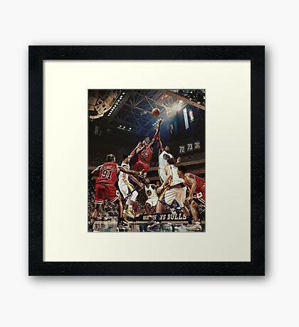 Chicago Golden State Sports Basketball Art Framed Print