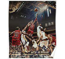 Chicago Golden State Sports Basketball Art Poster