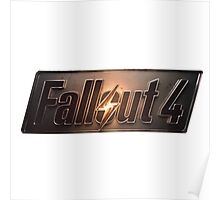 Fallout 4 | Logo | White Background | High Quality Poster