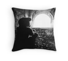 Teddy at Moonville... Throw Pillow