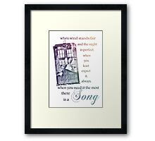 There is a Song, Doctor Who, Husbands of River Song Framed Print