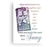 There is a Song, Doctor Who, Husbands of River Song Canvas Print
