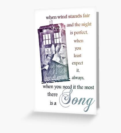 There is a Song, Doctor Who, Husbands of River Song Greeting Card