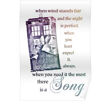 There is a Song, Doctor Who, Husbands of River Song Poster