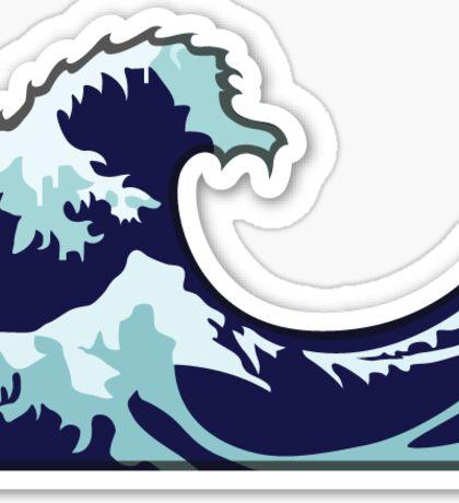 Wavy Wave Emoji  Sticker