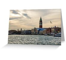 Impressions of Venice - Approaching St Marks on the Vaporetto Greeting Card