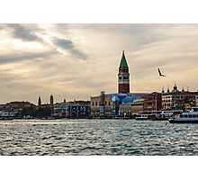 Impressions of Venice - Approaching St Marks on the Vaporetto Photographic Print