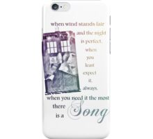 There is a Song, Doctor Who, Husbands of River Song iPhone Case/Skin