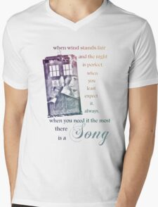 There is a Song, Doctor Who, Husbands of River Song Mens V-Neck T-Shirt